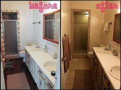 I Want To Remodel My Bathroom before and after images of bathroom shower remodels | condo