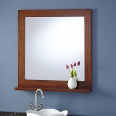 """30"""" Liani Mahogany Vanity Mirror - Mahogany"""