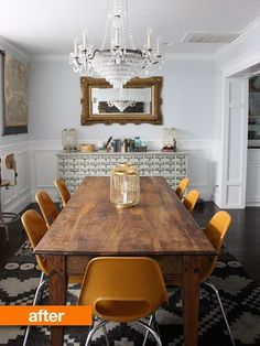 Before & After: Dining Room Goes From Dated to Dreamy — From the Archives: Greatest Hits | Apartment Therapy