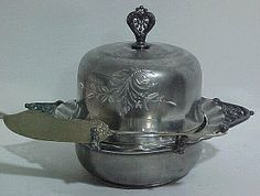 Silverplate Covered Butter Dish.