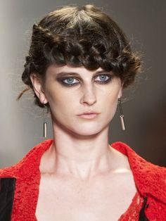 Brownish BlackSmokey eye MakeupTrend for Spring Summer 2013.  Emerson Spring Summer 2013.   #smokey #makeup  #trends