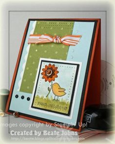 Big Flower, little chick using Stampin Up Fun & Fast Notes