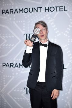 John Cameron Mitchell, winner of a Special Tony Award, poses in the Paramount Hotel Winners' Circle at the 2015 Tony Awards. Amazing People, Good People, John Cameron Mitchell, Paramount Hotel, Tony Winners, Tony Award, Broadway Theatre, Hedwig, Yuri On Ice