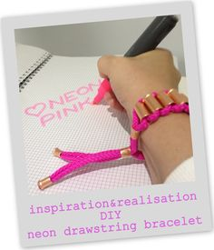 inspiration and realisation: DIY fashion blog: DIY Matthew Williamson neon drawstring bracelet