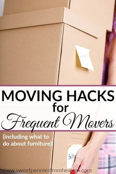 Moving hacks for frequent movers! We're sharing some of the best moving hacks that pertain to everyone, but especially to those who move frequently! Maybe you're a military family? Get lots of job relocations? In college? These moving tips are great for everyone, and we share a very cool idea about what to do about furniture when moving! #CORTatHome #ad