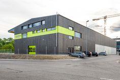 Neubau Halle Hard in Volketswil: Aussenansicht Gesamtgebäude