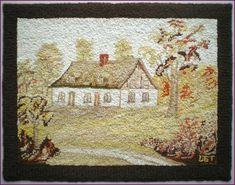 Vintage Rugs, Vintage World Maps, Diy Rugs, Hand Hooked Rugs, Punch Needle, Blue Ribbon, Rug Hooking, Canvas Fabric, Wool Rug