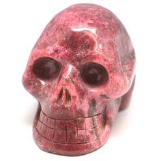 Rhodonite Crystal Skull - Energy Tools - Treasures.   Want want want want