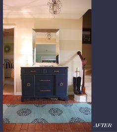DIY Buffet - paint color: Martha Stewart's Wrought Iron