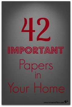42 Important Papers