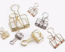 Gold/ Rose pink/ Silver Wire Binder Clip.