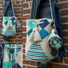 Mochila retro blue plus purse www.kralentik.nl
