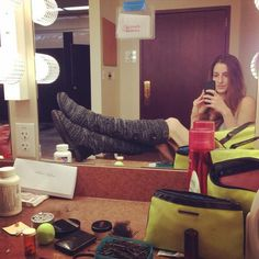 #AllisonDeBona is in love with the comfy @muk_luks!! #mukluk #discountdance
