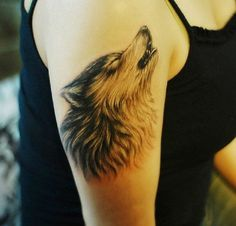 Cool 3D Wolf Tribal Tattoos Pictures