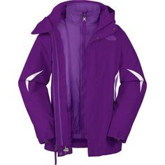North Face Big Girls Boundary Triclimate Jacket (Gravity Purple)-XL