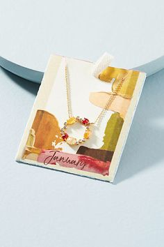 Anthropologie Birthstone Infinity Necklace -Crackled glass crystals represent each birth month on these charming necklaces - a sweet, personalized gift for you or a loved one. #ad #necklace #birthstone #valentines #gift #sale #myredshoestories