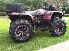 Muddy girl camo fourwheeler.      I WANT THIS FOUR-WHEELER SO BADLY!!
