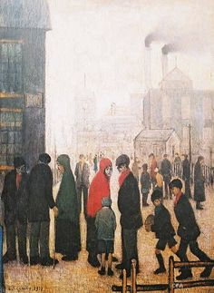 Salford Street Scene, Manchester, United Kingdom, 1928, by LS Lowry.
