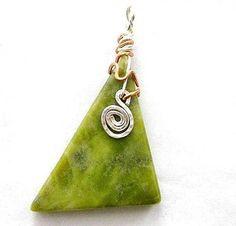 Connemara Marble Pendant  Silver & Copper. by HandmadebyAmor, $35.00