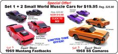 Buy Set 1 + 2 Small World Muscle Cars wood toy plan sets for One Low Price!