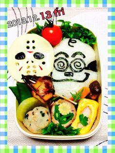 posted from @miki_teeeeeea @お弁当アート ~日本のお弁当文化~ 今日は…12月の…何日何曜日だ⁈(◾︎ω◾︎)/ #obentoart