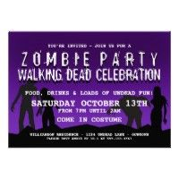 #Zombie #Halloween Party Invitations