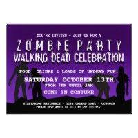 #Zombie #Halloween Party Invitations