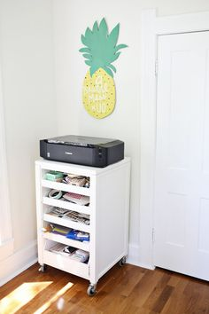 Love this printing station [could have office supplies in drawers underneath]