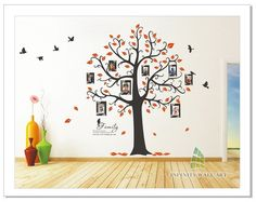 Family Photo Frame Tree, Bird,Quotes Wall Art Sticker - PD538  http://www.infinitywallart.com/family-photo-frame-tree-bird-quotes-wall-art-sticker-pd538.html