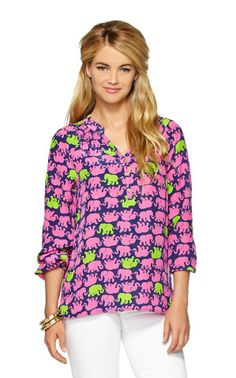 Elsa Top - Tusk In Sun - Lilly Pulitzer, How would you style this? http://keep.com/elsa-top-tusk-in-sun-lilly-pulitzer-by-bharwood/k/1X0GQlgBJK/