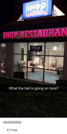Ihop restaurant now has a pool funny pics, funny gifs, funny videos, funny memes, funny jokes. LOL Pics app is for iOS, Android, iPhone, iPod, iPad, Tablet