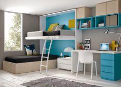 Dormitorios juveniles para dos hermanos   Dormitorios juveniles  Habitaciones infantiles y mueble juvenil Madrid