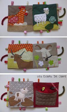 Claire dans tous ses éclats... : Livre d'éveil : les animaux de la ferme. Busy Book, Mini Books, Kids And Parenting, Sewing Hacks, Baby Toys, Animals And Pets, Quilt Patterns, Textiles, Scrapbook