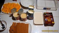 Mango Graham Cake - PinoyChow.com | Filipino Food Recipe Filipino Food, Filipino Recipes, Mango Graham Cake, Cheese Cakes, Chocolate Fondue, Waffles, Baking, Breakfast, Desserts