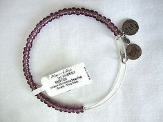 Alex & Ani Dark Purple Abalone Shimmering Bead Shiny Silver EWB Bracelet NEW - http://designerjewelrygalleria.com/alex-ani/alex-ani-dark-purple-abalone-shimmering-bead-shiny-silver-ewb-bracelet-new/
