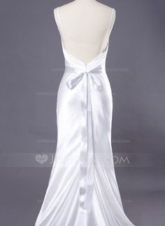 Delicate Satin Women's Wedding/Bridal Ribbon Sash With Rhinestone (015033777)