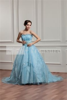 Light Sky Blue Satin Strapless Satin Sleeveless A-Line Prom Dress -Wedding  light blue prom dress,  plus size prom dress  pretty prom dress  #lovely prom dress  #prom dresses photo  #prom dresses under 200,  #snew arrival prom gowns  #ball gowns
