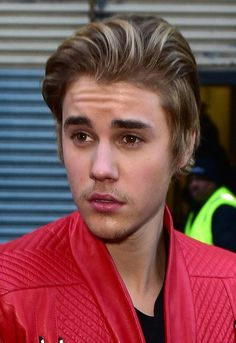 "Pin for Later: From ""Baby"" to Babe: The Evolution of Justin Bieber's Incredible Hair 2015 He supported his friend Kanye West during the rapper's New York Fashion Week show with long, pushed-back strands and stubble."