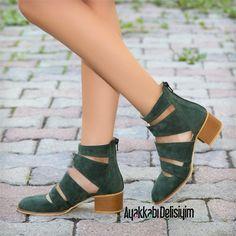 Yeşil Babet ve Sandalet modelleri çok moda! #haki #green #sandals #flat #shoes