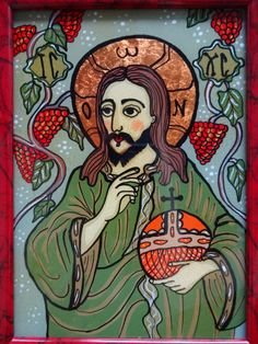 Icoane pe Sticla Jesus Art, Jesus Christ, Christian Paintings, Byzantine Icons, Art Icon, Orthodox Icons, Mexican Folk Art, Sacred Art, History Facts