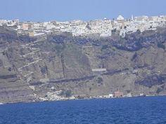 Fira Harbour, Santorini, Greece