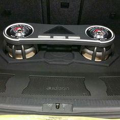 One Loud Page car audio custom install trunk distribution amps enclosure amp rack unique enclosure