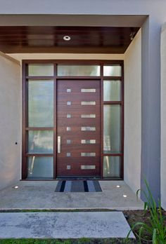 Design Of Entrance Door. Fiberglass Woodgrain Double Doors With Iron ...