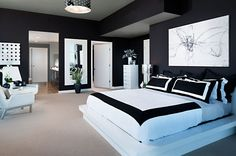 bedroom ideas for black and white