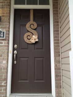 First time I've created a letter for our front door.  Love the size and love that it can be fall or be other seasons too!!   <3.