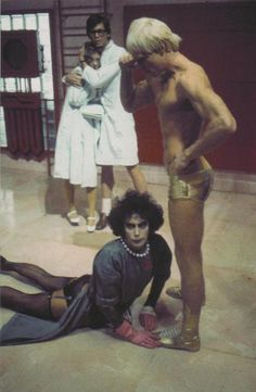 On the set of 'The Rocky Horror Picture Show', 1975