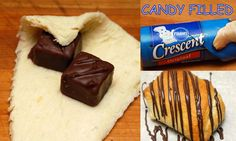Hugs & CookiesXOXO: PILLSBURY CRESCENT ROLLS STUFFED WITH MINI MILKYWAYS