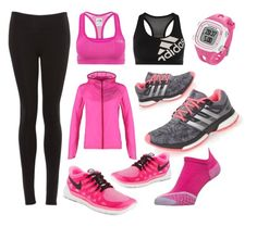 """""""Running Pink"""" by tristenlee03 on Polyvore"""