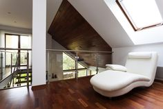54 Lofty Loft Room Designs. Loft sitting room with skylight