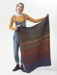 Image of Blankets Are My Canvas-Free beginner pattern-Lion Brand Homespun Yarn